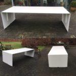 INTTER, op maat gemaakt, custommade, geplooid metaal, wit, white, design, eigenmaak, metal design