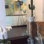 Intter, spiegel, mirror, maatwerk, houten blok, massief hout, theaterlamp