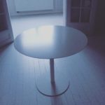 Intter koffietafel diameter 90cm, staal, wit gelakt