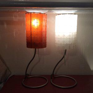Designerlamp Arteluce - 2 stuks - wit en oranje - €55/stuk