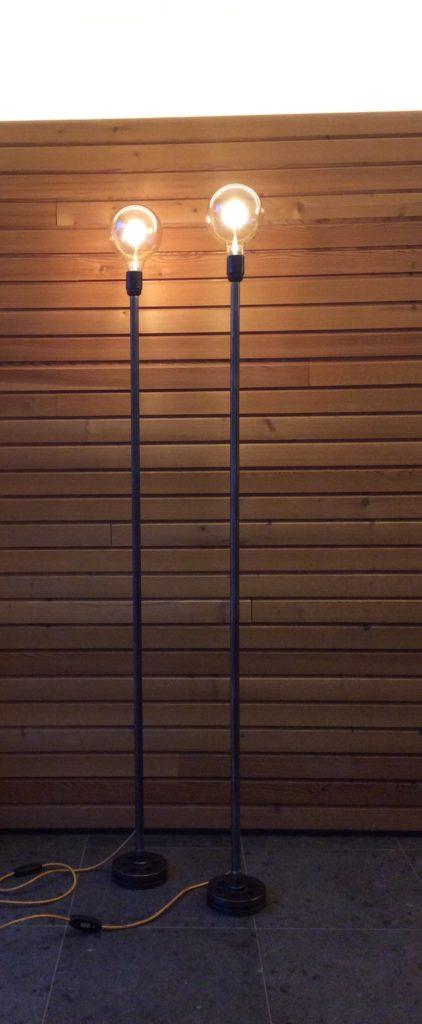 Intter, verlichting, staande lamp, LED, dimbaar, gerecycleerde materialen, metaal