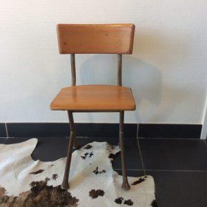 intter, kinderstoel, vintage, schoolmeubilair, tweedehands, stoel, schoolmeubilair