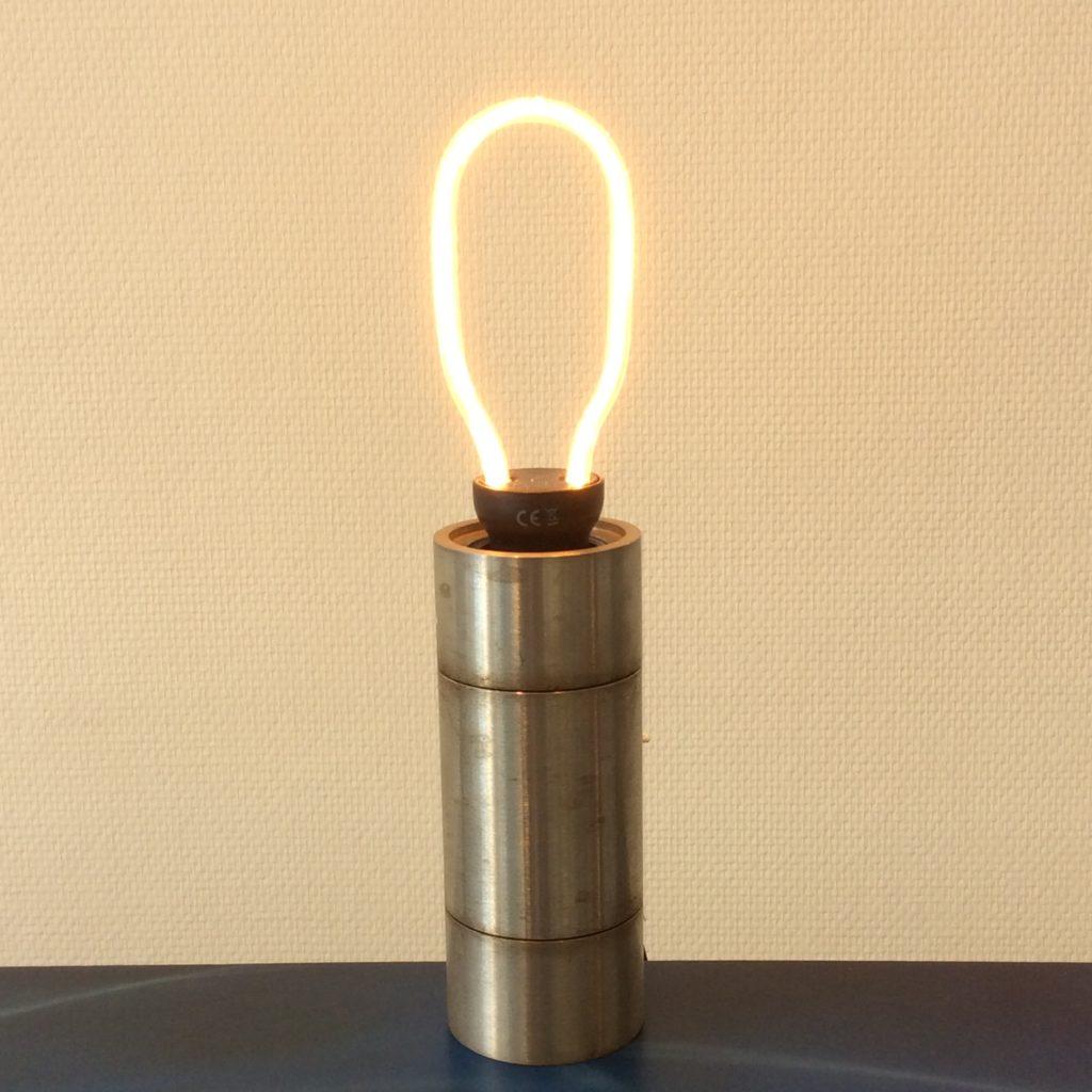 Intter, tafellamp, gerecycleerde materialen, LED, ledverlichting