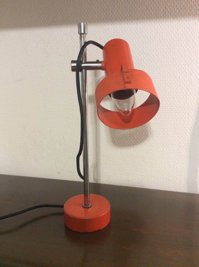 Intter, bureaulamp, vintage, recycled, oranje, desklamp