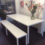 Intter, tafel, wit, tafel op maat, design, maatwerk, dinertable, interieur, inrichting