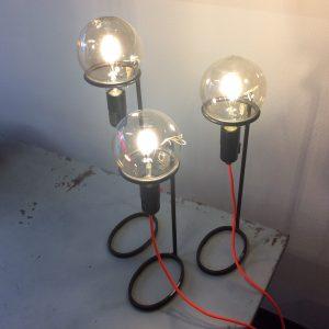 Intter, lamp, LED, verlichting, gerecycleerde materialen, gerecycleerd ijzer, metaal, verroest, roestig
