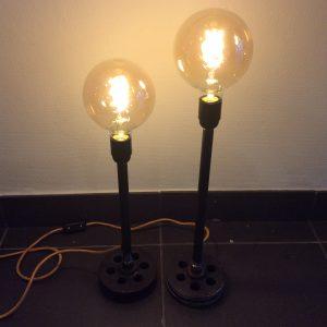 Intter, verlichting, tafellamp, LED, dimbaar, gerecycleerde materialen, metaal