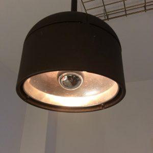 Intter, verlichting, lamp, led, kopspiegellel, kopspiegellamp, koper, plafondbevestiging, hanglamp