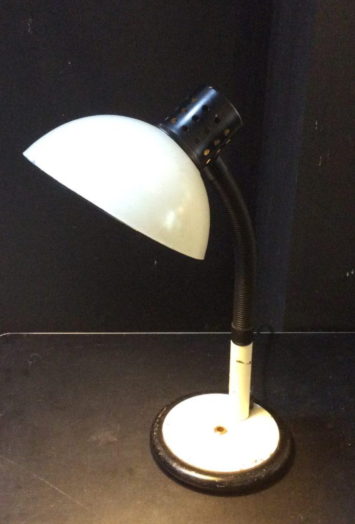 Intter, bureaulamp, vintage, recycled, wit, desklamp, witzwart, zwartwit