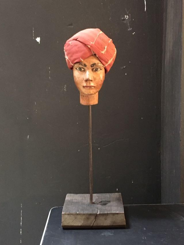Intter, antiek, handpop, poppenkast, theater, handgeschilderd, uniek, decoratie, hebbeding,
