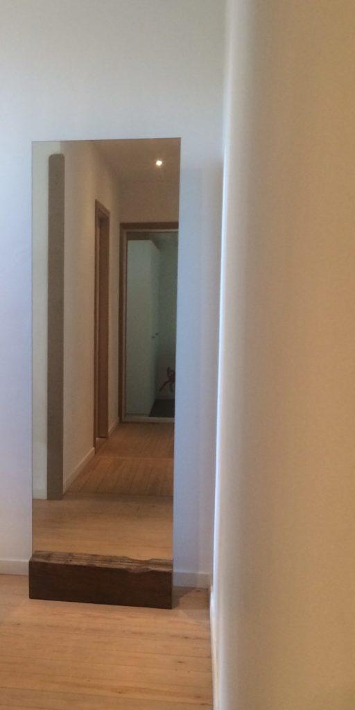 Intter spiegel 60 x 180 cm in eiken blok   €245