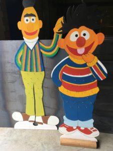 Intter, Sesamstraat, Bert en Ernie, lesmateriaal, themamateriaal,school, kleuterschool, decratief, nostalgie.