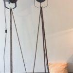theaterlamp H ca. 180cm - nog 1 stuk    €436/stuk