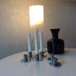 INTTER, tableware, ceramics, keramiek, verlichting, op maat gemaakte metalen tafel