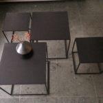 Intter, coffeetable, salontafel, design, metaal, metalen tafel, bijzettafel