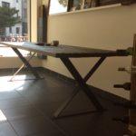 ruwe tafel Z-poot 268x87 - 1 stuk    €1.735 - MAATWERK op aanvraag