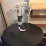 metalen koffietafel dia. 90 cm